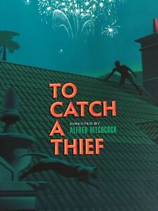 TO CATCH A THIEF Laurent DURIEUX Variant limited edition print 150 HITCHCOCK GID