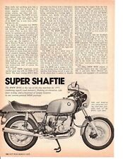 1975 BMW R90S MOTORCYCLE ~ ORIGINAL 2-PAGE ARTICLE / AD