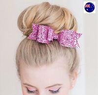 Women Lady Girl Dance Bun Shine Glitter Party Hair Bow Clip Hairpin Barrette