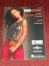 Alicia Keys No One  US Sheet Music-Easy Piano