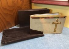 """50th Anniversary Gold Plated Photo Album """"God has Blessed our Years Together"""""""