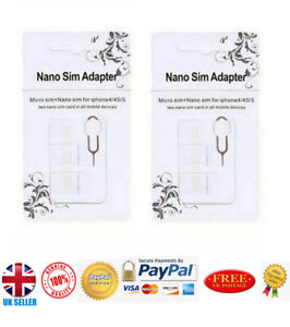 10 X Nano SIM Card - MICRO Standard SIM Adapter converter SET For iPhone-Samsung
