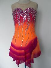 NEW FIGURE ICE SKATING BATON TWIRLING DRESS COSTUME ADULT XL