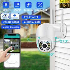 UK 1080P WIFI IP Camera Wireless Outdoor CCTV HD PTZ Smart Home Security IR Cam