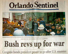 Historic 9 11 12 Newspaper Collection September 2001 Headlines America Attacked
