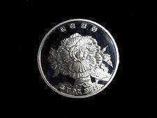 Korea 2004, Kimjongilia 20Won,KM-257,45mm, 42.216g Silver proof with scratch G83