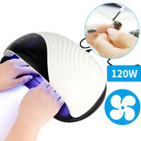 120W Nail Dryer UV LED Lamp Light Nail Art Gel Polish Smart Quick-Drying Machine