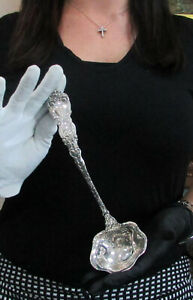 """GORHAM IMPERIAL CHRYSANTHEMUM STERLING SILVER THE PERFECT GIFT 10.5"""" SOUP LADLE"""