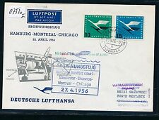 07520) LH FF Frankfurt  - Shannon Irland 27.4.56, SoU MiF 10 + 15PF Lufthansa