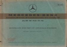 MERCEDES BENZ W108 W109 W111.02 W114 & W115 AUTO GEARBOX FACTORY PARTS CATALOGUE