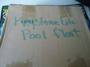 keystone light mint in box pool inflatable blowup raft  pool float beer sign