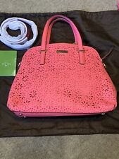 New Genuine Kate Spade Bright Pink Cut Out Shoulder / Cross Body / Grab Bag