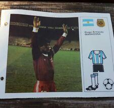 estrellas del mundial 82 ficha Maradona n'17