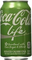 Coke Life Reduced Calorie Coca Cola with Stevia 12 Oz Cans - Case of 12