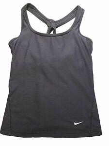 Nike Dri Fit Black Training Racerback Tank Top EUC Small