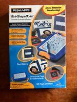 Everything NIP Fiskars Mini-ShapeBoss Embossing System Lot with 10 stencils