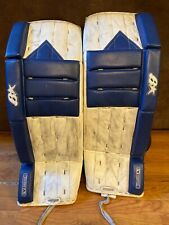 Awesome Brian's Goalie Pads - Very cool retro V-Series 31+2 - White + Blue