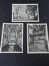 Vtg Set 3 Miniature Pictures Real Photos CANTERBURY CATHEDRAL Kent
