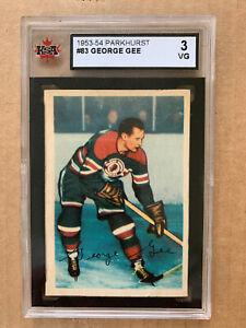 1953-54 Parkhurst #83 George Gee Chicago Blackhawks**KSA 3 VG**