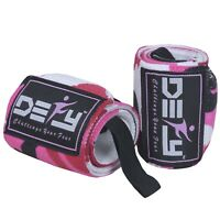 "Weight Lifting Wrist Wraps Gym Workout Training Straps 18"" Long Pink Camo"