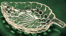 Vintage Pressed Glass Leaf Shaped Bowl
