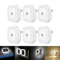 0.5W Plug-in Auto Sensor Control LED Night Light Lamp for Bedroom Hallway US/EU