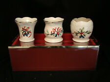 """Winter Greetings by Lenox Small Candle Holder 3 1/2"""" Set / 3"""