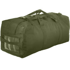 Olive Drab Duffle Bag & Double Strap Backpack Tactical Duffel Military Army