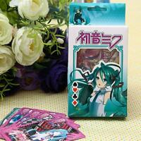 Japanese Anime Hatsune Miku Paper Game Playing cards Poker Cards
