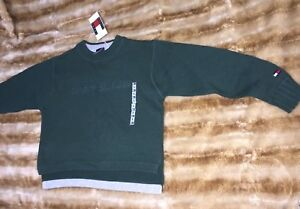 Tommy Hilfiger Baby Boys' Long Sleeve Crew Neck Sweater Sz 5