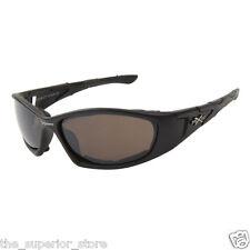 Xsportz Foam Padded Interior Frames XS64 Black Frame Biker Motorcycle Sunglasses