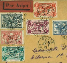 Z36 1923	FRANCE AVIATION MEETING *Rouen* Semi-Official Air Mail Stamps 5f Cover