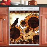 Beautiful Country Decor Kitchen Dishwasher Magnet - Primitive Folk Art Design #3