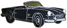 Triumph Spitfire MkI/II car cut out lapel pin - Black