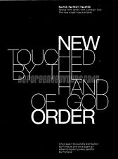 New Order Touched By The Hand of God Poster