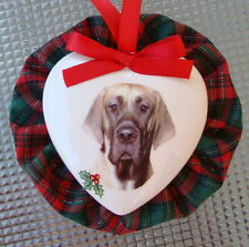 Great Dane Dog Christmas Ornament, Heart Shaped, Handmade in the USA!
