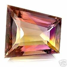 7,73 ct  Violet Yellow Ametrine - Fancy Rectangular cut - VVS Bolivia