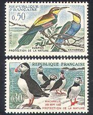 France 1960 Birds/Conservation/Puffins/Bee-eaters/Nature/Wildlife 2v set n24252