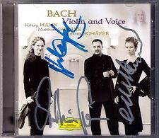 Hilary HAHN Matthias GOERNE Christine SCHÄFER Signiert BACH Violin and Voice CD