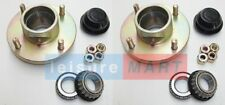 "Pair of Complete Trailer Wheel Hubs Taper Bearing 4""PCD"