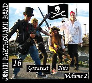 16 GREATEST HITS Vol 2 Jonee Earthquake Band CD Boston Punk Surf Rockabilly 2008