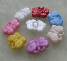 70pcs Butterfly Plastic Buttons/sewing lots Mix F197