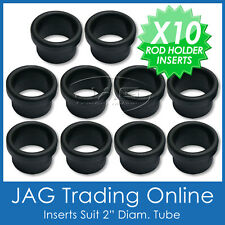 10 x BLACK NYLON ROD HOLDER INSERT PROTECTORS-Fishing Bait Board/Rocket Launcher