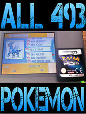 GENUINE POKEMON DIAMOND WITH ALL 493 SHINY POKEMON ALL ITEMS NINTENDO DS PEARL