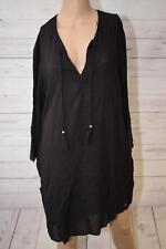 Esprit Damen Bluse Tunika Gr. XL schwarz
