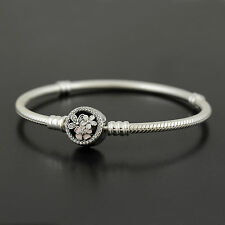 Authentic Pandora Silver Poetic Blooms Clasp Bracelet 590744CZ