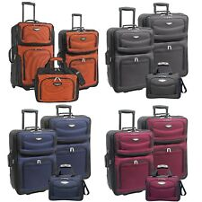 Amsterdam 3-Piece Light Expandable Rolling Luggage Suitcase Tote Bag Travel Set