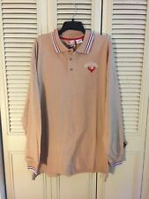 *ARTFUL DODGER Scam Polo Swell-Mob Beige Long Sleeve Shirt  2XL NEW