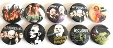 ROCK AND POP   x 10  BADGES, PINS, VINTAGE BUTTONS  set 1
