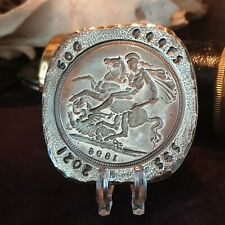 More details for hand poured .999 fine silver george and the dragon pure silver bullion
